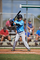 Tyler Bruno during the WWBA World Championship at the Roger Dean Complex on October 19, 2018 in Jupiter, Florida.  Tyler Bruno is an outfielder from Hazlet, New Jersey who attends Raritan High School.  (Mike Janes/Four Seam Images)