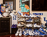 November 27, 2019. Cary, North Carolina.<br /> <br /> As a life long Kentucky Wildcats fan, Mahan has acquired all types of memorabilia related to the team, including jerseys, signed balls and shoes worn by players. <br /> <br /> Jimmy Mahan, a former social worker and banker, has a massive collection of sports memorabilia. His collection spans his days as a kid growing up in Kentucky and loving UK basketball all the way through high collectible classic baseball cards, jerseys and sneakers.