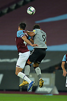 Fabian Balbuena and Macauley Bonne of Charlton Athletic FC during West Ham United vs Charlton Athletic, Caraboa Cup Football at The London Stadium on 15th September 2020