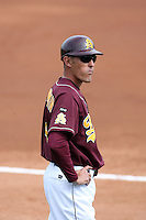 Mike Benjamin, assistant coach, Arizona State Sun Devils - Annual Alumni game at Packard Stadium, Tempe, AZ - 02/06/2010..Photo by:  Bill Mitchell/Four Seam Images.