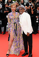 CANNES, FRANCE. July 12, 2021: Tonya Lewis Lee & Spike Lee at the gala premiere of Wes Anderson's The French Despatch at the 74th Festival de Cannes.<br /> Picture: Paul Smith / Featureflash