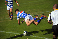 Action from the Presbyterian Schools Quadrangular series 1st XV rugby match between St Kentigern School and St Andrew's College at Scots College in Wellington, New Zealand on Wednesday, 28 April 2021. Photo: Dave Lintott / lintottphoto.co.nz