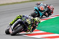 27th September 2020, Circuit de Barcelona Catalunya, Barcelona, MotoGp of Catalunya, Race Day;  Valentino Rossi, Fabio Quartararo FRA