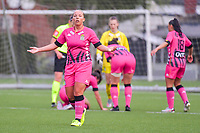 Megane Vos (20) of Sporting Charleroi pictured during a female soccer game between Sporting Charleroi and Eendracht Aalst on the 8th matchday in play off 2 of the 2020 - 2021 season of Belgian Scooore Womens Super League , tuesday 18 th of May 2021 in Marcinelle , Belgium . PHOTO SPORTPIX.BE   SPP   STIJN AUDOOREN