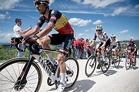 """Belgian National Champion Dries De Bondt (BEL/Alpecin-Fenix)<br /> <br /> 104th Giro d'Italia 2021 (2.UWT)<br /> Stage 11 from Perugia to Montalcino (162km)<br /> """"the Strade Bianche stage""""<br /> <br /> ©kramon"""