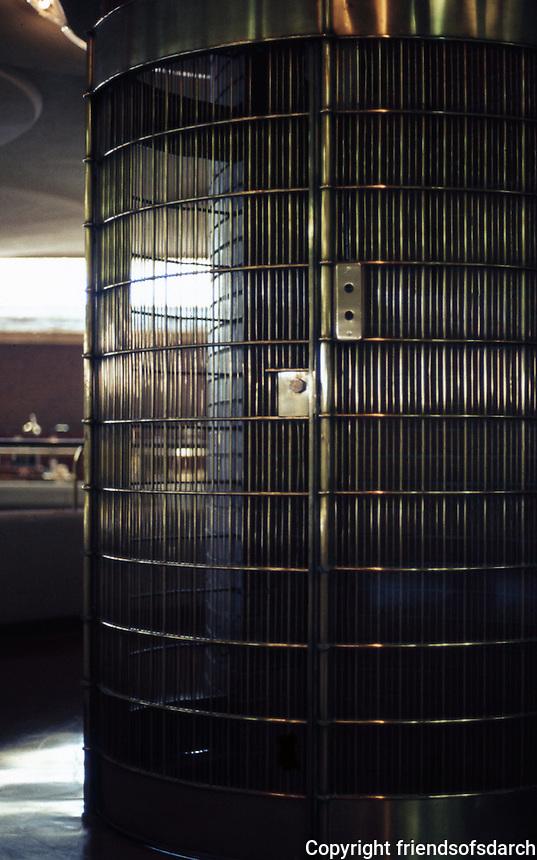F.L. Wright: S.C. Johnson & Son. Elevator.  Photo '77.