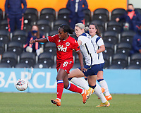 Danielle Carter of Reading and Alanna Kennedy of Tottenham during Tottenham Hotspur Women vs Reading FC Women, Barclays FA Women's Super League Football at the Hive Stadium on 7th November 2020