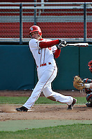 St.John's Red Storm second baseman Matt Wessinger (0)  during a game vs. the Cincinnati Bearcats at Jack Kaiser Stadium in Queens, NY;  March 25, 2011.  St. John's defeated Cincinnati 3-2.  Photo By Tomasso DeRosa/Four Seam Images