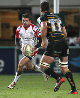 Friday 7th December 2012;  Jared Payne in action for Ulster during the Pool 4 round 3 Heineken Cup clash at Franklin's Gardens, Northampton, England. Image credit -: JOHN DICKSON / DICKSONDIGITAL