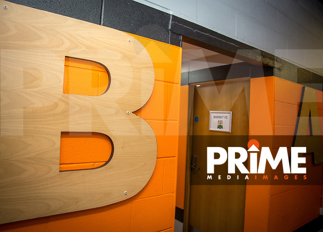 Changing room ahead of the pre season friendly match between Barnet v Wycombe Wanderers at The Hive, London, England on 13 July 2019. Photo by Andy Rowland.