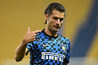 Antonio Candreva of FC Internazionale reacts prior to the during the Serie A football match between Parma and FC Internazionale at stadio Ennio Tardini in Parma ( Italy ), June 28th, 2020. Play resumes behind closed doors following the outbreak of the coronavirus disease. <br /> Photo Andrea Staccioli / Insidefoto