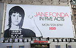 """Times Square Billboard for HBO's """"Jane Fonda in Five Acts"""""""