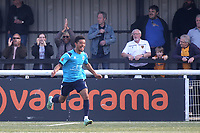 Eastbourne Borough celebrate scoring their opening goal during Maidstone United vs Eastbourne Borough, Vanarama National League South Football at the Gallagher Stadium on 9th October 2021