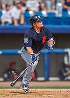 5 March 2016: Detroit Tigers infielder Thomas Field in action during a Spring Training pre-season game against the Washington Nationals at Space Coast Stadium in Viera, Florida. The Tigers fell to the Nationals 8-4 in Grapefruit League play. Mandatory Credit: Ed Wolfstein Photo *** RAW (NEF) Image File Available ***