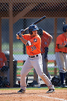 Houston Astros Ramon Laureano (38) during a minor league Spring Training game against the Detroit Tigers on March 30, 2016 at Tigertown in Lakeland, Florida.  (Mike Janes/Four Seam Images)