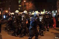 Arrestation des manifestants anti-austerité  par le SPVM le 24 Mars 2015<br /> <br /> FILE PHOTO -  Montreal Police arrest anti-austerity demonstrators, March 4, 2015.<br /> <br /> An estimated 11 000 people took part in the night demonstration.<br /> <br /> PHOTO : Pierre Roussel - Agence Quebec Presse