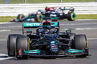 18th July 2021; Silverstone Circuit, Silverstone, Northamptonshire, England; Formula One British Grand Prix, Race Day; Mercedes AMG Petronas F1 Team driver Valtteri Bottas in the heat haze of Lewis Hamilton in his Mercedes F1 W12 Mercedes AMG F1 M12