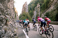 large breakaway group passing the Pic de l'Oeillette on their way to the Col de Porte<br /> <br /> Stage 16 from La Tour-du-Pin to Villard-de-Lans (164km)<br /> <br /> 107th Tour de France 2020 (2.UWT)<br /> (the 'postponed edition' held in september)<br /> <br /> ©kramon