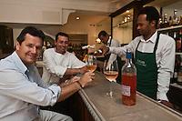 Europe/France/Provence -Alpes-Cote d'Azur/83/Var/Saint-Tropez: Christophe Leroy et son équipe: Restaurant: Chez Fuchs [Non destiné à un usage publicitaire - Not intended for an advertising use]