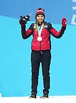 Natalie Wilkie, PyeongChang 2018 - Para Nordic Skiing // Ski paranordique.<br /> Natalie Wilkie collects her bronze medal // Natalie Wilkie remporte sa médaille de bronze. 14/03/2018.