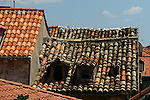 Old and new roofs.Dubrovnik after civil war