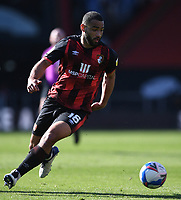 2nd April 2021; Vitality Stadium, Bournemouth, Dorset, England; English Football League Championship Football, Bournemouth Athletic versus Middlesbrough; Cameron Carter-Vickers of Bournemouth brings the ball forward