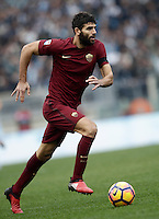 Calcio, Serie A: Lazio vs Roma. Roma, stadio Olimpico, 4 dicembre 2016.<br /> Roma's Federico Fazio in action during the Italian Serie A football match between Lazio and Rome at Rome's Olympic stadium, 4 December 2016. Roma won 2-0.<br /> UPDATE IMAGES PRESS/Isabella Bonotto