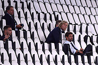 Fabio Paratici, Pavel Nedved and Andrea Agnelli during the Serie A football match between Juventus FC and SS Lazio at Juventus stadium in Turin (Italy), July 20th, 2020. Play resumes behind closed doors following the outbreak of the coronavirus disease. <br /> Photo Federico Tardito / Insidefoto