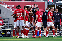 12th September 2020; Ashton Gate Stadium, Bristol, England; English Football League Championship Football, Bristol City versus Coventry City; Tomas Kalas of Bristol City celebrates with his teammates after scoring to take the lead in the 83rd minute