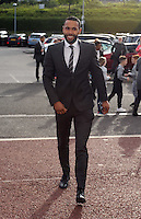Pictured: Kyle Bartley arrives Wednesday 20 May 2015<br /> Re: Swansea City FC Awards Dinner at the Liberty Stadium, south Wales, UK