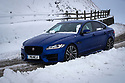 17/01/18<br /> <br /> After heavy snowfall a Jaguar XF makes its way over Mam Tor in the Derbyshire Peak District near Castleton..<br /> <br /> All Rights Reserved F Stop Press Ltd. +44 (0)1335 344240 +44 (0)7765 242650  www.fstoppress.com