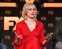 "PASADENA, CA - JANUARY 9: Cast member Alison Pill attends the panel for ""Devs"" during the FX Networks presentation at the 2020 TCA Winter Press Tour at the Langham Huntington on January 9, 2020 in Pasadena, California. (Photo by Frank Micelotta/FX Networks/PictureGroup)"