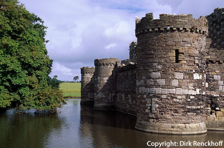 Großbritannien, Wales, Burg von Beaumaris, Unesco-Weltkulturerbe.Beaumaris castle