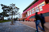 A general view of Anfield, home of Liverpool FC <br /> <br /> Photographer Rich Linley/CameraSport<br /> <br /> UEFA Champions League Round of 16 Second Leg - Liverpool v Atletico Madrid - Wednesday 11th March 2020 - Anfield - Liverpool<br />  <br /> World Copyright © 2020 CameraSport. All rights reserved. 43 Linden Ave. Countesthorpe. Leicester. England. LE8 5PG - Tel: +44 (0) 116 277 4147 - admin@camerasport.com - www.camerasport.com