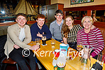 Twins Liam and Owen O'Malley from Ballymac celebrating their 21st birthday in the Mall Tavern on Friday. l to r: Liam, Owen, Declan, Aisling and Trisha O'Malley