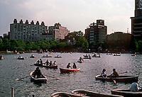 Tokyo: Rowers on Shinobazu Pond, Ueno Park. Photo '82.