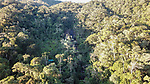 Aerial view of mid-altitude rainforest near Camp Marojejia (camp 2), Marojejy National Park, north east Madagascar.