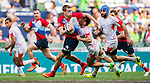 Russia vs Tunisia during their HSBC Sevens Wold Series Qualifier match as part of the Cathay Pacific / HSBC Hong Kong Sevens at the Hong Kong Stadium on 27 March 2015 in Hong Kong, China. Photo by Xaume Olleros / Power Sport Images