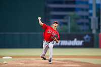 AZL Angels starting pitcher Wilkel Hernandez (38) delivers a pitch to the plate against the AZL Diamondbacks on August 20, 2017 at Diablo Stadium in Tempe, Arizona. AZL Angels defeated the AZL Diamondbacks 19-1. (Zachary Lucy/Four Seam Images)