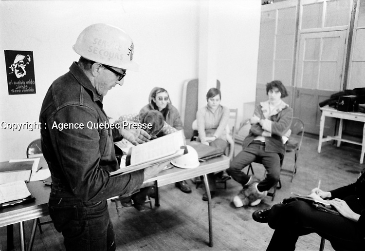 Service secours, 1973<br /> <br /> PHOTO :   Agence Quebec Presse - Alain Renaud