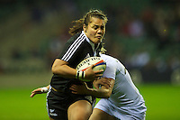 Teresa Te Tamaki of the Black Ferns during the test match between England Women and the Black Ferns at Twickenham on Saturday 01 December 2012 (Photo by Rob Munro)