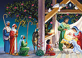 Randy, HOLY FAMILIES, HEILIGE FAMILIE, SAGRADA FAMÍLIA, paintings+++++Visiting-the-Manger-detail-1,USRW196,#xr#