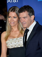 PALM SPRINGS03, 2020: Antonio Banderas & Nicole Kimpel at the 2020 Palm Springs International Film Festival Film Awards Gala.<br /> Picture: Paul Smith/Featureflash