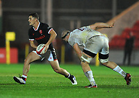 Wales Kieran Hardy looks to offload<br /> <br /> Photographer Ian Cook/CameraSport<br /> <br /> 2020 Autumn Nations Cup - Wales v Georgia - Saturday 21st November 2020 - Parc y Scarlets - Llanelli - Wales<br /> <br /> World Copyright © 2020 CameraSport. All rights reserved. 43 Linden Ave. Countesthorpe. Leicester. England. LE8 5PG - Tel: +44 (0) 116 277 4147 - admin@camerasport.com - www.camerasport.com