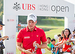 Danny Willett of England signs autographs after finishing the tournament during the 58th UBS Hong Kong Golf Open as part of the European Tour on 11 December 2016, at the Hong Kong Golf Club, Fanling, Hong Kong, China. Photo by Marcio Rodrigo Machado / Power Sport Images