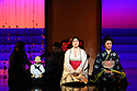 """London, UK. 24.02.2020. English National Opera presents Puccini's """"Madam Butterfly"""" at the London Coliseum.  This production is directed by Anthony Minghella with Glen Sheppard as revival director, set design by Michael Levine, costume design by Han Feng, and lighting design by Peter Mumford. Revival choreography is by David John and puppetry is by Blind Summit. The cast is: Natalya Romaniw (Cio-Cio San), Dimitri Pittas (Pinkerton), Roderick Williams (Sharpless), Stephanie Windsor-Lewis (Suzuki), Alasdair Elliott (Goro), Keel Watson (The Bonze), Njabulo Madlala (Prince Yamadori), Katie Stevenson (Kate Pinkerton). Photograph © Jane Hobson."""