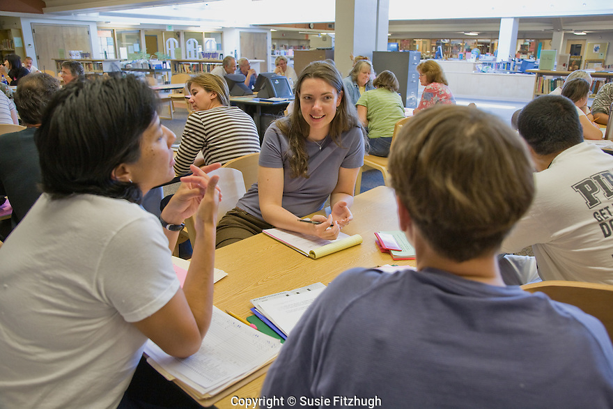 Teachers meeting at the beginning of the year; Chief Sealth High School, Seattle WA.