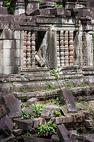 """Cambodia, Beng Mealea """"Library"""" Ruins, South Side, 12th. Century."""