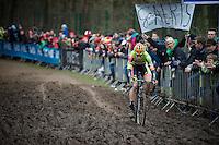 Wout Van Aert (BEL/Crelan-Vastgoedservice) leading over the mud<br /> <br /> 2016 Belgian National CX Championships