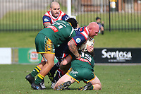The Wyong Roos play Erina Eagles in Round 9 of the Open Age Central Coast Rugby League Division at Morry Breen Oval on 16th of June, 2019 in Kanwal, NSW Australia. (Photo by Giselle Barkley/LookPro)
